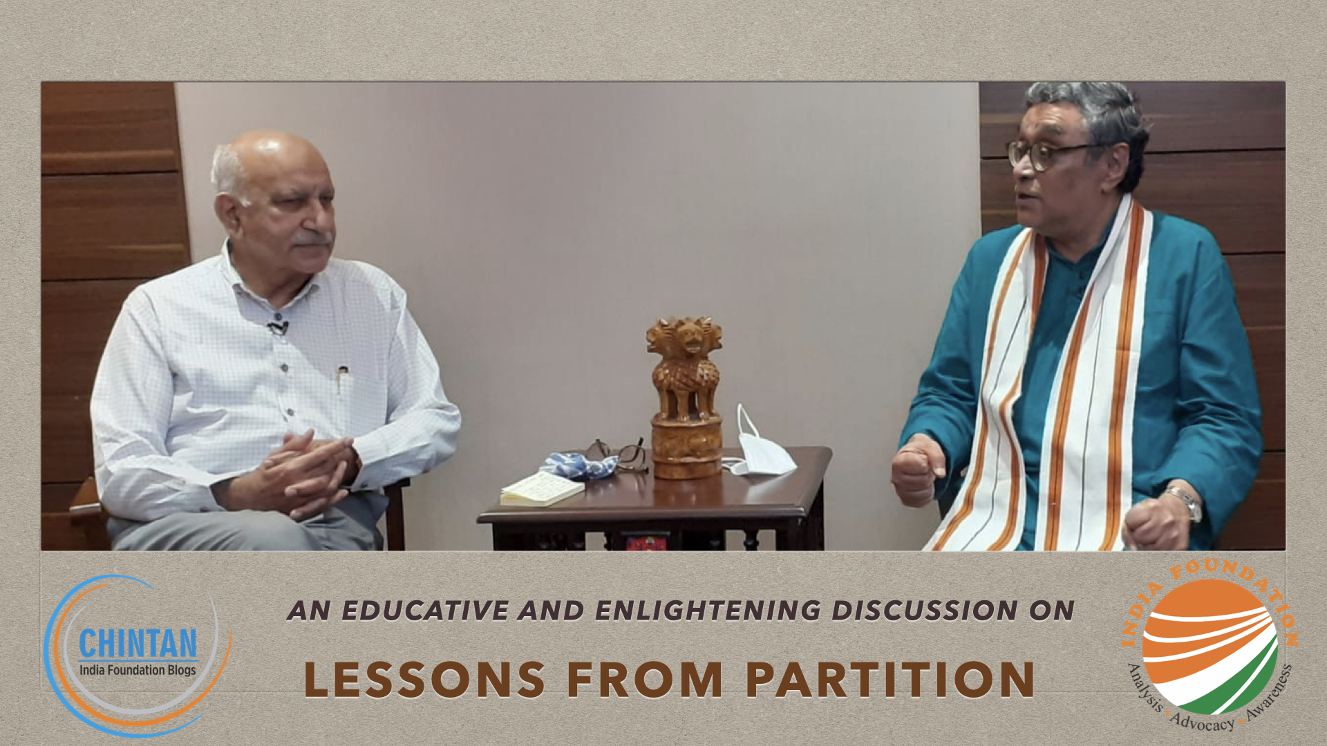 Lessons from Partition – IF Chats with Shri M J Akbar and Shri Swapan Dasgupta