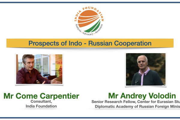 Prospects of Indo – Russian Cooperation – IF Specials with Prof Andrey Volodin