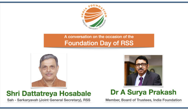 A Conversation on the Foundation Day of RSS – IF Chats with Shri Dattatreya Hosabale